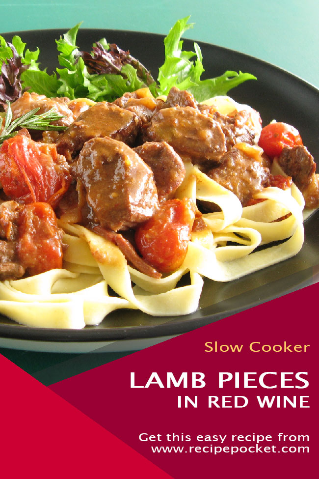 Slow Cooker Lamb In Red Wine Sauce Recipe Pocket