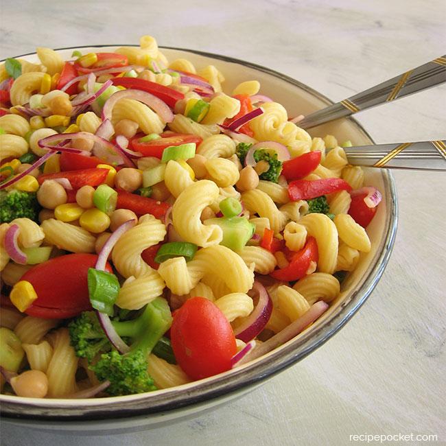 Healthy Cold Pasta Salad